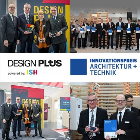 Deux prix pour CeraFloor Select : le prix de l'innovation Architecture + Technique (Innovationspreis Architektur + Technik) et le prix Design Plus Award