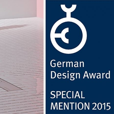 German Design Award 2015 for Dallmer TistoLine - the flat, short shower channel
