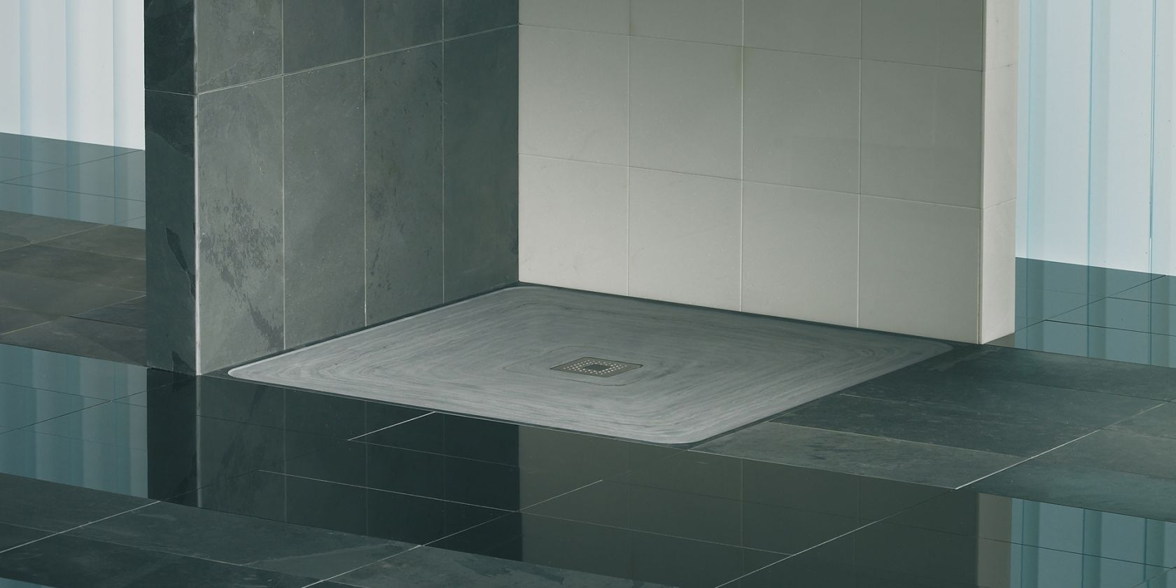 ORIO N shower drains. Specially for natural stone shower trays