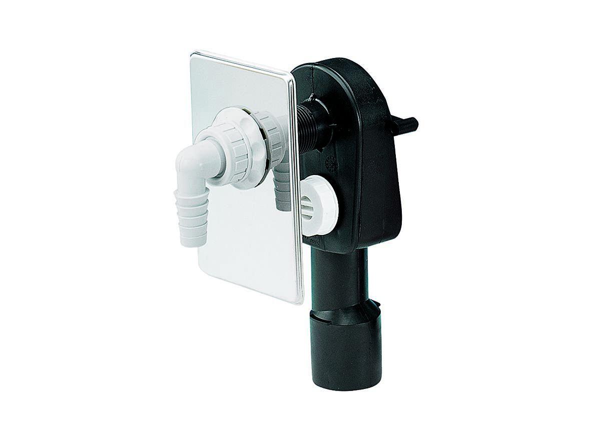 Unterputz Weiß UP-Sifon DN 50 Waschmaschinen Waschgeräte Siphon