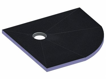 shower underlay CeraBoard corner, 40 x 900 x 900 mm