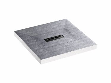 shower underlay DallFlex Compact Plan, DN 40, 0,9 x 0,9 m
